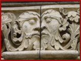 <p>Janus, the two-headed pagan god depicted on a Roman Catholic Cathedral in southern Germany. <br /><br />Copyright Amazing Discoveries.</p>