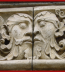 <p>Janus, the two-headed pagan god depicted on a Roman Catholic Cathedral in southern Germany. </p>