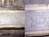 "<p>This altar in the basement of the Basilica of San Clemente shows Christianized wording in Latin on one side, with petroglyphs of pagan sun worship on the other side. Both religions worshiped in the same capacity, used the same venues and altars, and eventually fused into one. <br /><br />As James Wharey wrote on page 24 of <a title=""Google books: Sketches of Church History"" href=""http://books.google.ca/books?id=4Bls82iWjV4C"" target=""blank""><em>Sketches of Church History</em></a> (Presbyterian Board of Publication, 1840), ""when Christianity became the established religion of the Roman Empire, and took the place of paganism, it assumed, in a great degree, the forms and rites of paganism...Christianity as it existed in the dark ages, might be termed, without much impropriety of language, <em>baptized paganism</em>."" <br /><br />Copyright Amazing Discoveries.</p>"