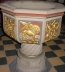 <p>Winged lion on a Catholic baptistry. </p>