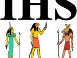<p>The acronym IHS is not a Christian symbol, but rather a symbol of the Egyptian trinity. </p>