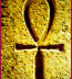 <p>The ankh as shown in an Egyptian carving. </p>