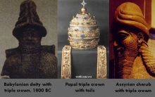 Babylonian, Assyrian, and Roman Catholic triple crowns.