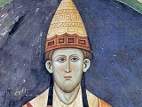 <p>Pope Innocent III, with a hat resembling the apparel of Dagon's preists</p>