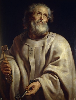 Painting of Saint Peter by Peter Paul Rubens. Catholics mistakenly believe Peter was the first pope and that the Catholic Church is the authority on salvation. When Jesus said,