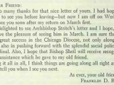 A letter from US President Franklin Roosevelt to Archbishop Francis Spellman of New York, 1940. Source: Robert Ignatius Gannon, <em>The Cardinal Spellman Story</em> (Garden City, NY: Doubleday, 1963): 180.