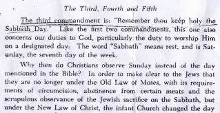 The third commandment is: