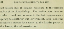 Source: Thomas M. Harris, Rome's Responsibility for the Assassination of Abraham Lincoln (Pittsburgh, PA: Williams Publishing, 1897): 34 .