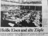 """Old bones of Contention"" <br /><br />In this 1998 newspaper clipping, the subtitle tells us that as a result of a Lutheran synod that met in Germany, the Pope would no longer be called ""Antichrist."""