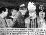 Chief Justice William Rehnquist and Cardinal Bernard Law.