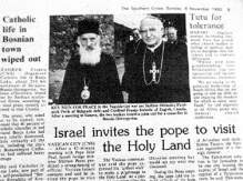 Israel invites the pope to visit the Holy Land. Southern Cross (Sunday November 8, 1992).