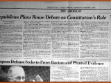"<em>The new desire to amend the constitution ""is part of the general trend to try to write morality into law,"" said Douglas Kmiec, A Notre Dame University law professor...</em>  Joan Biskupic, ""Republican Plans Rouse Debate on Constitution&#039;s Role,"" <em>International Herald Tribune</em> (March 15, 1995)."