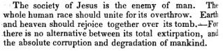 Source: Pastor Robert Jefferson Breckinridge, Papism in the XIX Century, in the United States (D. Owen, 1841): 206.