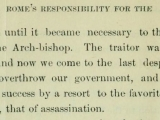 "Source: <a href=""http://www.archive.org/stream/romesresponsibil00harr#page/34/mode/2up"" target=""blank"" title=""Read Harris&#039; book online at Archive.org"">Thomas M. Harris, Rome&#039;s Responsibility for the Assassination of Abraham Lincoln (Pittsburgh, PA: Williams Publishing, 1897): 34</a> ."