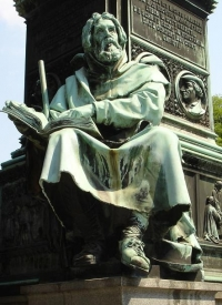 Peter Waldo, after whom the Waldenses are named. Public Domain https://commons.wikimedia.org/wiki/File:WaldoAtLutherDenkmal.JPG