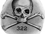 "<p>The logo of <a href=""http://amazingdiscoveries.org/S-deception-secret-societies-Jesuit-knights.html#Skull"" target=""blank"">the Skull and Bones</a> consists of a skull and crossbones, along with the number 322. According to one theory, 322 indicates that it is the second chapter of a German secret society, supposedly the Bavarian Illuminati. </p>"