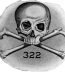 "<p>The logo of <a href=""http://amazingdiscoveries.org/S-deception-secret-societies-Jesuit-knights.html#Skull"" target=""blank"">the Skull and Bones</a> consists of a skull and crossbones, along with the number 322. According to one theory, 322 indicates that it is the second chapter of a German secret society, supposedly the Bavarian Illuminati. <br /><br />Source: <a href=""http://en.wikipedia.org/wiki/File:Bones_logo.jpg"">Wikimedia Commons</a>.</p>"