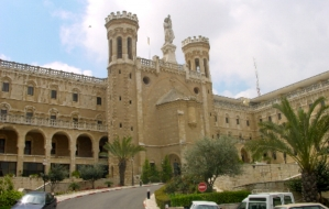 The Vatican representative palace in Jerusalem.© Amazing Discoveries.