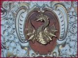 "<p>A dragon on a papal crest in the Vatican Museum. <br /><br />Watch<a href=""https://amazingdiscoveries.tv/media/132/219-the-wine-of-babylon/""> The Wine of Bablyon on ADtv</a> for more information.</p>"