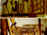 "<p>Top picture: The winged serpent spirit, signifying the soul of the departed. Egypt.<br /><br /> Bottom picture: Winged serpent guardians on King Tut's throne Cairo, Egypt. <br /><br />Watch<a href=""https://amazingdiscoveries.tv/media/132/219-the-wine-of-babylon/""> The Wine of Bablyon on ADtv</a> for more information.<br /><br /></p>"