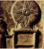 <p>Assyrio-Babylonian altar, depicting the 8-spoked wheel of the sun. This one depicts the curved and straight rays, representing the union of male and female. <br /><br /> Source: <em>Great Controversy Picture CD</em>, LLT Productions.</p>