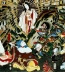 <p>The Japanese sun goddess Amaterasu emerges out of the cave with her face painted white in a Shinto ritual dance.</p>