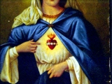 "<p>The ""sacred heart"" symbol shown here on Mary is another pagan symbol. It is shown here in a pamphlet from St. Mary's Cathedral, Capetown, South Africa. <br /><br />Copyright Amazing Discoveries.</p>"