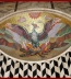 <p>This phoenix rising as seen in the Westminster Cathedral in London shows the black and white diamonds represent the light and dark side of Lucifer, the light bearer. The black and white is also used in freemasonry. The phoenix rising from the ashes symbolizes the light bearer being resurrected. <br /><br /></p>