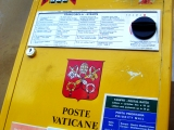 "<p>A post box displaying the Vatican coat of arms, including the Keys of Peter. <br /><br />Source: <a href=""http://en.wikipedia.org/wiki/Vatican_City"" target=""_blank"">Wikimedia Commons.</a></p>"