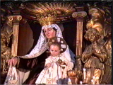 <p>A statue of Mary with the Child holding a globe. <br /><br />Copyright Amazing Discoveries.</p>