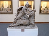 "<a href=""http://amazingdiscoveries.org/AD-ReligiousTerms-Glossary.html#Mithra"" target=""blank"" title=""Learn more about Mithra"">Mithra</a> killing the bull, with help from a dog, a serpent, and a scorpion.  <br />Copyright Amazing Discoveries."