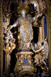 Statue of St. Ignatius of Loyola at Gesù Church, Rome. CC Sharealike Roy Sebastien https://commons.wikimedia.org/wiki/File:Ignatius_of_Loyola,_Church_of_Ges%C3%B9,_Rome,_Jan_2013.jpg