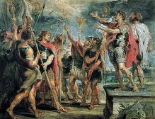 Constantine's Conversion by Peter Paul Rubens Source: Wikimedia Commons.