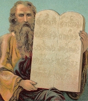 Moses with the Ten Commandments. Source: Wikimedia Commons.