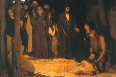 The Resurrection of Lazarus, oil on canvas painting by Henry Ossawa Tanner, 1896, Musee d'Orsay, Paris Public Domain https://commons.wikimedia.org/wiki/File:Henry_Ossawa_Tanner,_Resurrection_of_Lazarus.jpg