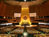 "<p>UN General Assembly Hall. <br /><br /></p> <p>Watch our ADtv video about the&nbsp;<a href=""https://amazingdiscoveries.tv/media/139/226-the-un-and-the-occult-agenda/"">UN and the Occult Agenda</a>.&nbsp;</p>"