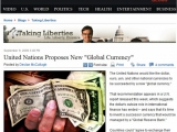 <p>CBS News tells us that the UN wants to introduce global currency.</p>
