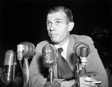 Alger Hiss was accused of being a communist and a Soviet spy—which he denied. He was later convicted of perjury. Public Domain https://commons.wikimedia.org/wiki/File:Alger_Hiss_(1950).jpg