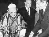 <p>Pope Paul VI and President John F. Kennedy.</p>