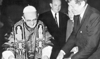 Pope Paul VI and President John F. Kennedy. Watch our ADtv video about the UN and the Occult Agenda.