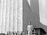 <p><span>Dag Hammarskjöld outside the UN building.</span></p> <p><span> </span></p>